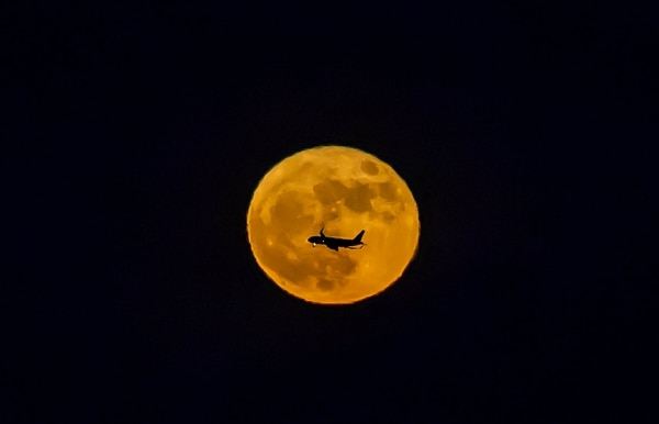La superluna en Baja California