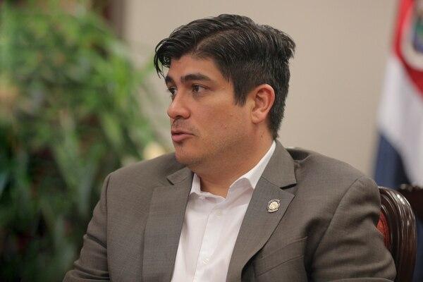 El presidente de la Republica, Carlos Alvarado. Foto: Jeffrey Zamora