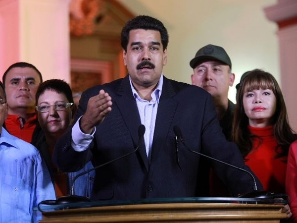 Nicolás Maduro se dirigió ayer al pueblo venezolano luego de que Chávez saliera de la operación. | AFP.