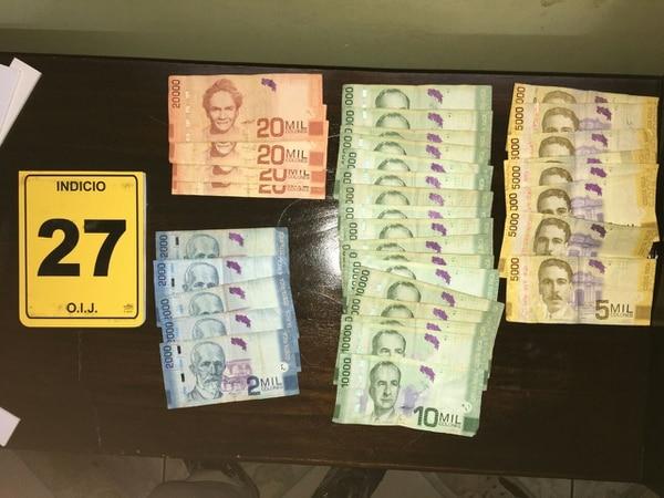 Durante los allanamientos realizados el martes anterior se decomisó dinero en efectivo y droags. Foto cortesía del Ministerio Público.