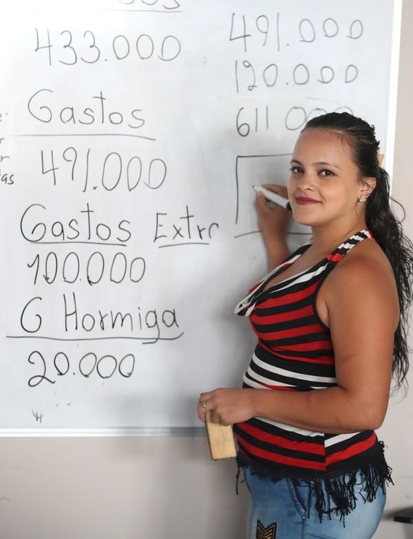 Rebeca Alvarado sueña con tener su propio negocio de repostería.