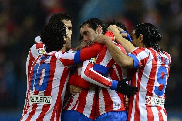El Atlético de Madrid cierra el año en la segunda posición de la Liga de España. | AFP