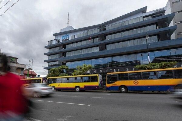 10/12/2018, San José, fachada del edificio del Ministerio de Hacienda. Fotografía José Cordero