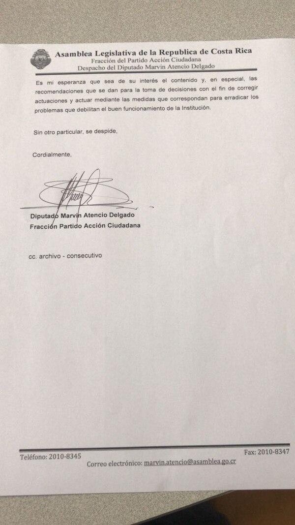Carta Atencio a CCSS