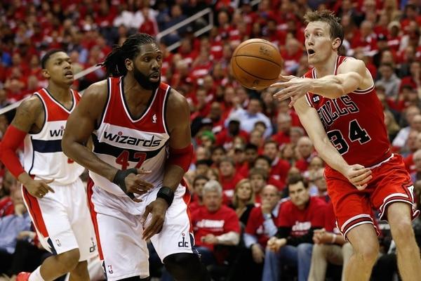 Mike Dunleavy anotó 35 puntos para los Bulls ante los Wizards.