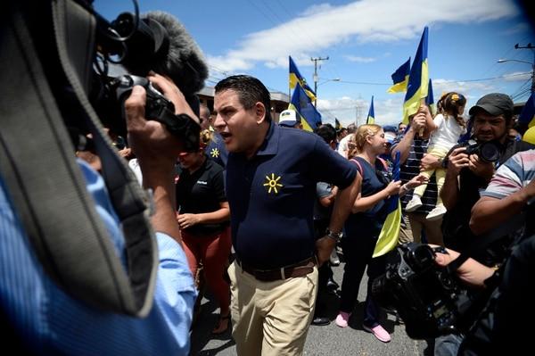 Fabricio Alvarado el sábado en campaña. Foto de: Diana Méndez.