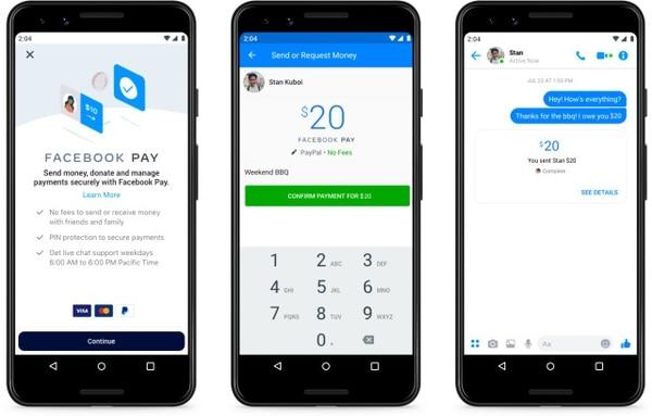 El sistema de pagos de la red social estará disponible en una primera etapa en Estados Unidos. Foto: Facebook.
