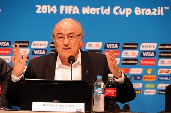 Joseph Blatter dio este lunes una conferencia de prensa en Río de Janeiro Brasil, como cierre del Mundial 2014.
