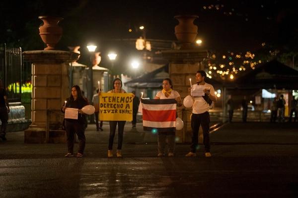 La actividad fue organizada por un grupo de jóvenes residentes del cantón que participan en actividades políticas.   FOTO: FABIÁN HERNÁNDEZ.