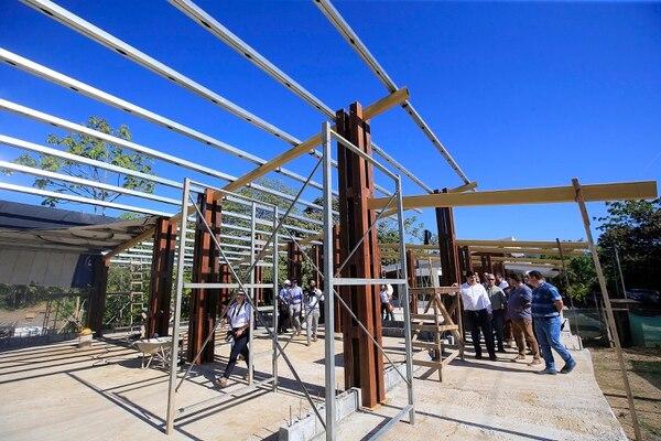Estos son los avances de la construcción del nuevo edificio del Museo de Finca 6, en Palmar Sur. Foto: Rafael Pacheco.