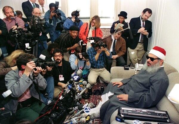 El jeque Omar Abdel Rahma ofreció en abril de 1993 una conferencia de prensa en Jersey City.