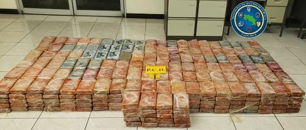 La PCD decomisó 620 paquetes de cocaína en el muelle de Moín. Foto: MSP para LN