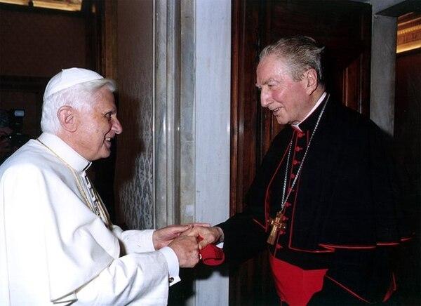 En junio pasado, cuando Benedicto XVI visitó Milán, el cardenal Martini mantuvo un encuentro privado con él | ARCHIVO