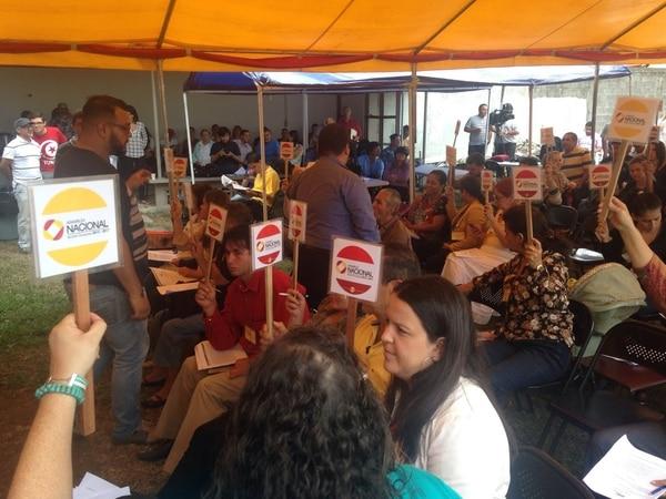 Los asambleístas del PAC reunidos este 9 de mayo en Montes de Oca.