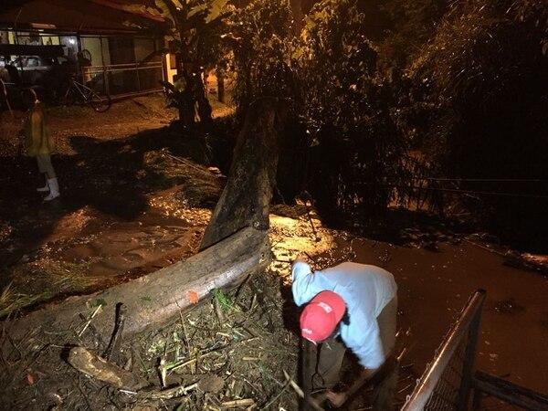 Turrialba es una de las zonas afectadas por las lluvias de las últimas horas. Foto: Josué Hernández, corresponsal GN