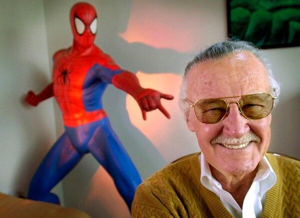 Stan Lee forjó un sueño en el tuvo la complicidad de más de 300 superhéroes, a quienes creó desde que era muy joven. Fotografía: AFP.