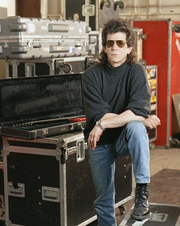 Reed posa para el lente, en marzo de 1989, en el estudio de grabación American Sound Studio. Fotografía: AP.