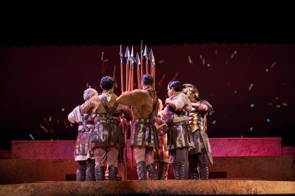 'La Orestiada', montaje del programa Érase una vez... del Teatro Nacional. Foto: Alejandro Gamboa.