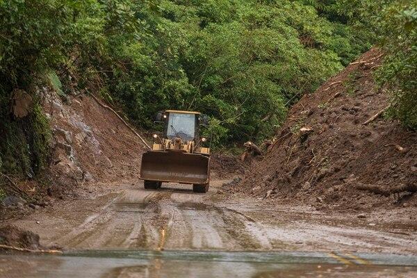 La ruta 32 permanecerá cerrada al menos hasta el martes, informó el MOPT. Foto: José Cordero
