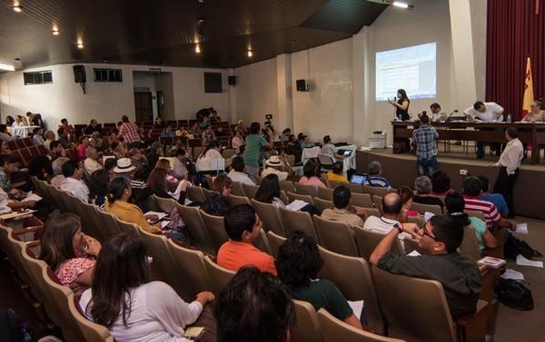 Los asambleístas se reunieron el sábado para debatir sobre las finanzas de la campaña y acabaron discutiendo la coyuntura política. | JEFFREY ZAMORA