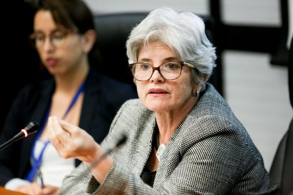 La ministra de Hacienda, Rocío Aguilar, denuncia la situación y fue una de las investigadas por los pagos sin contenido presupuestario. Agencia Ojo por Ojo