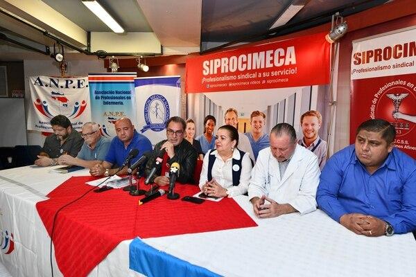El 6 de agosto, los dirigentes sindicales del sector salud anunciaron la prolongación de la huelga. La protesta, en un inicio, debía finalizar el 6 de agosto pero se tomó la decisión de extenderla de forma indefinida. Foto: Jorge Castillo
