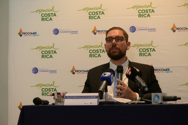El viceministro de Comercio Exterior (Comex), Duayner Salas, encabeza la delegación que presentará el examen ante la OMC. Dijo desde Ginebra que ya se recibieron 250 consultas por escrito. Foto: José Díaz
