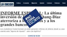 #NoComaCuento: Página utiliza imagen de 'La Nación' y Franklin Chang para estafar