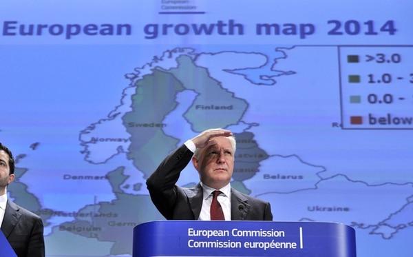El comisario europeo de Asuntos Económicos, Olli Rehn, dio una conferencia con las previsiones económicas para el periodo 2013-2015. | AFP