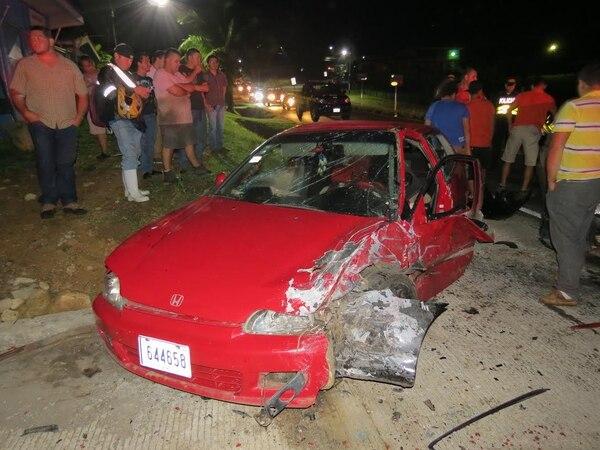 Una persona falleció y otras cinco resultaron heridas durante una colisión en Aguas Zarcas en San Carlos, Alajuela.