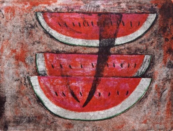 Sandía es el título de esta obra del artista Rufino Tamayo.