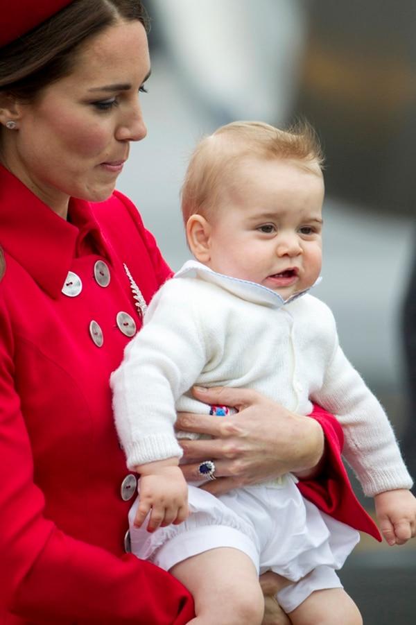 Periplo. Los duques de Cambridge y su bebé de ocho meses permanecerán diez días en Nueva Zelanda. Archivo