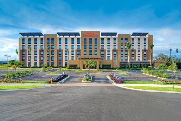 El hotel Hilton Gardenn Inn en Liberia se ubica cerca del aeropuerto Daniel Oduber.