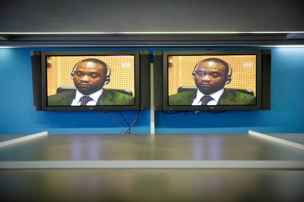 Germain Katanga cuando escuchaba el veredicto. | AP