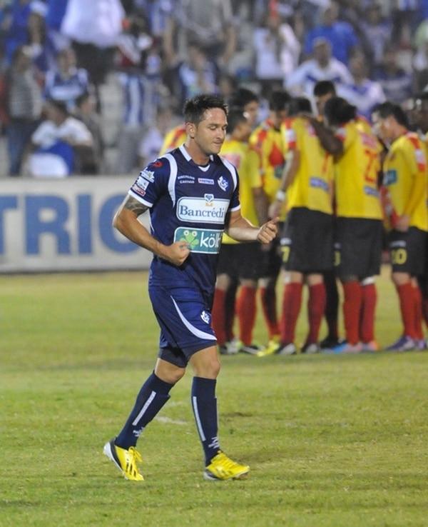 Castillo anotó el domingo anterior ante Heredia. | CARLOS BORBÓN/LN