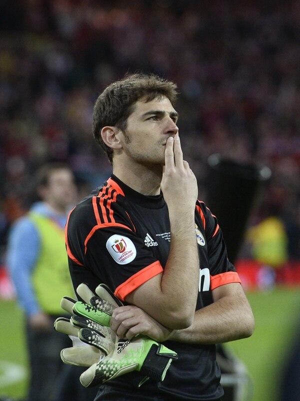 El 18 de mayo pasado, Iker Casillas perdió con el Real Madrid la final de la Copa del Rey ante el Atlético, en el propio Santiago Bernabéu. | ARCHIVO