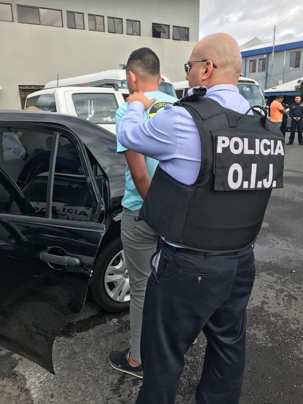 El OIJ detuvo a las 7:20 a. m. de este jueves en el edificio central del Ministerio de Seguridad, en barrio Córdoba, San José. Foto: Cortesía
