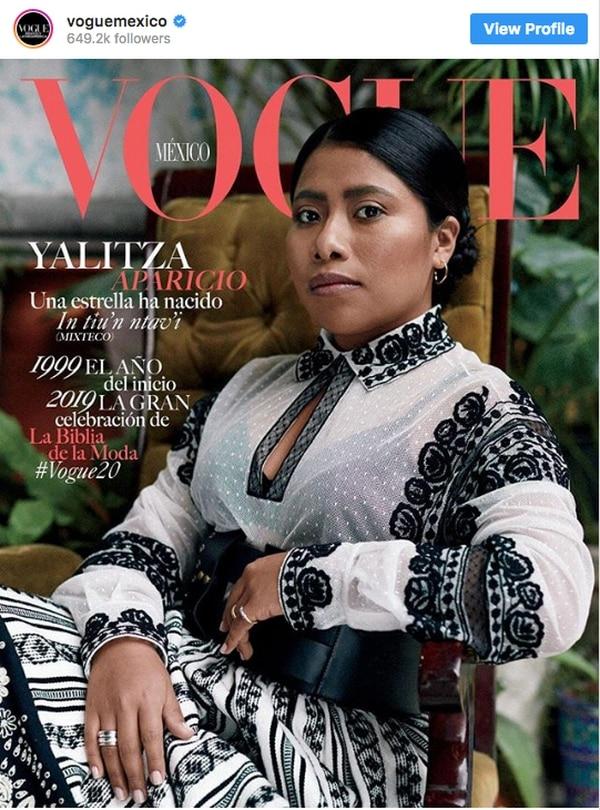 Yalitza Aparicio en portada Vogue