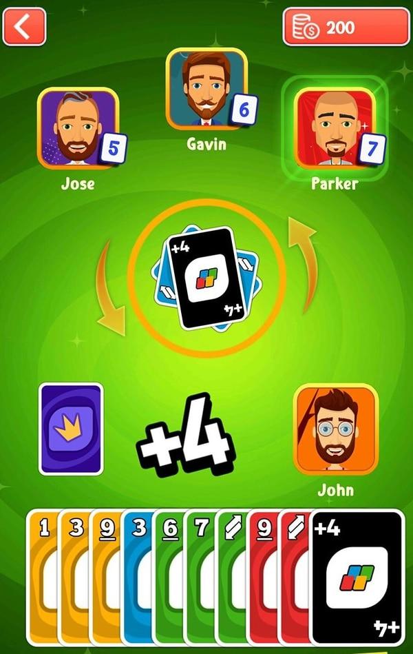El desarrollo de estrategias y analizar las jugadas de los otros competidores es parte esencial de 'Uno Friends'. Fotografía: Cortesía