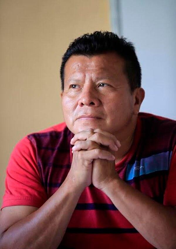 Wilfrido Mora, miembro de la comunidad de Curré