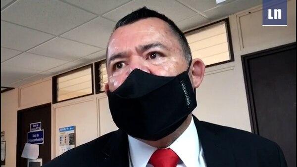 El abogado Rafael Rodríguez representa a Mauricio Víquez. Foto: Captura de video