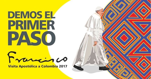La Presidencia de Colombia difundió el viernes este afiche alusivo a la visita del papa Francisco, en setiembre.