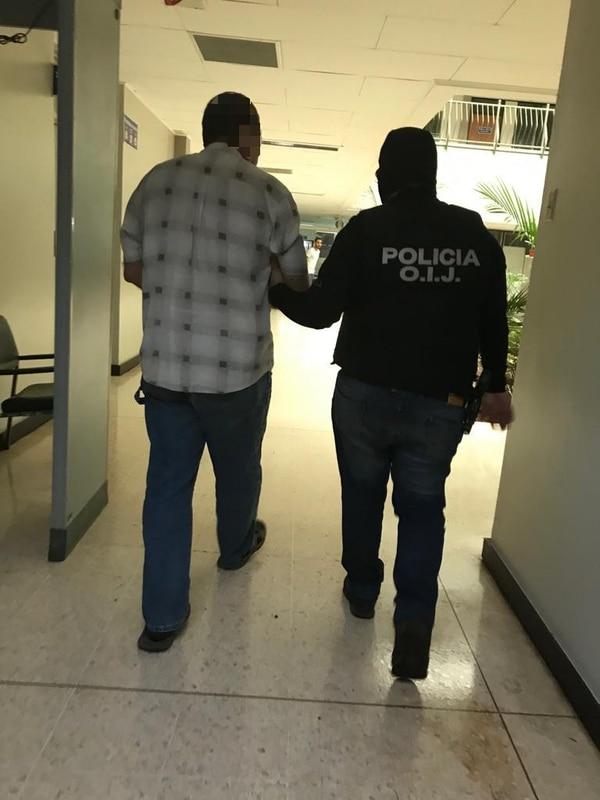 Masís Artavia quedó el sábado en la Fiscalía de San Carlos. Foto: Cortesía OIJ.