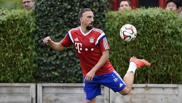 El francés Franck Ribéry regresó a los entrenamientos con el Bayern de Múnich.