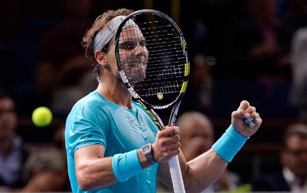 El español Rafael Nadal consideró que tiene que mejorar todavía más para vencer al francés Richard Gasquet –su próximo rival– en pista cubierta.   AFP