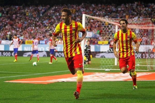 Neymar marcó el gol del empate para el Barcelona.