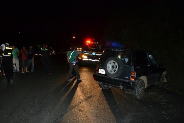El accidente se produjo sobre la carretera Interamericana sur a unos 4 kilómetros al norte de San Isidro de El General.