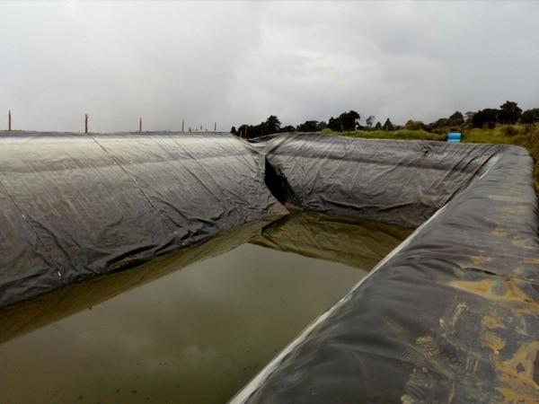 Este es el reservorio de agua que colapsó.