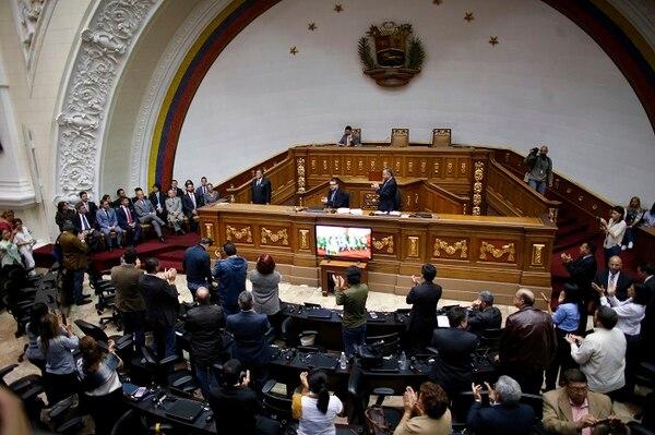 Sesión realizada este sábado en Caracas por la Asamblea Nacional de Venezuela.