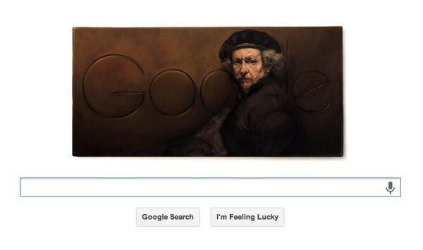 Doodle de 407.° aniversario de Rembrandt van Rijn.